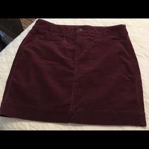 Loft cord skirt burgundy/wine sz 10